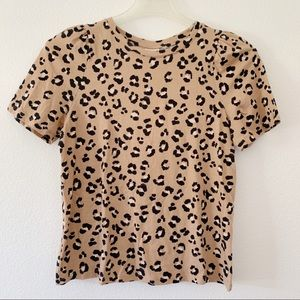 NWT Leopard Print Short Sleeve Cotton tee